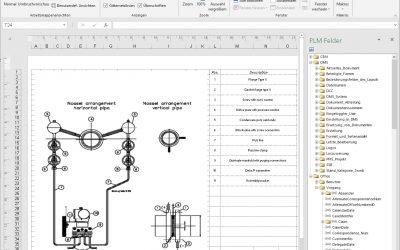 PLM – Neues Excel Plugin zur Übergabe von PLM Datenbankfelder