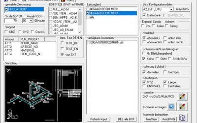 PLM 3D / ISOGEN – PISOGEN – Erweiterung zur Generierung von Leitungsgruppe