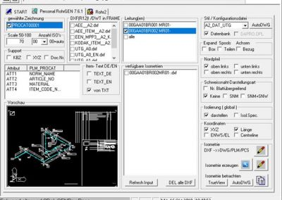 PLM 3D / ISOGEN - PISOGEN - Extension for generating piping groups
