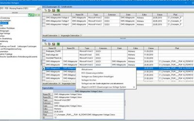 PLM DMS – DCC – Vorlagenüberwachen durch das Quelldokument