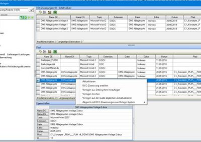 PLM DMS - DCC - Template monitoring by the source document