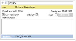 DMS and ToDo lists receive the IDC Interface Document Control procedure